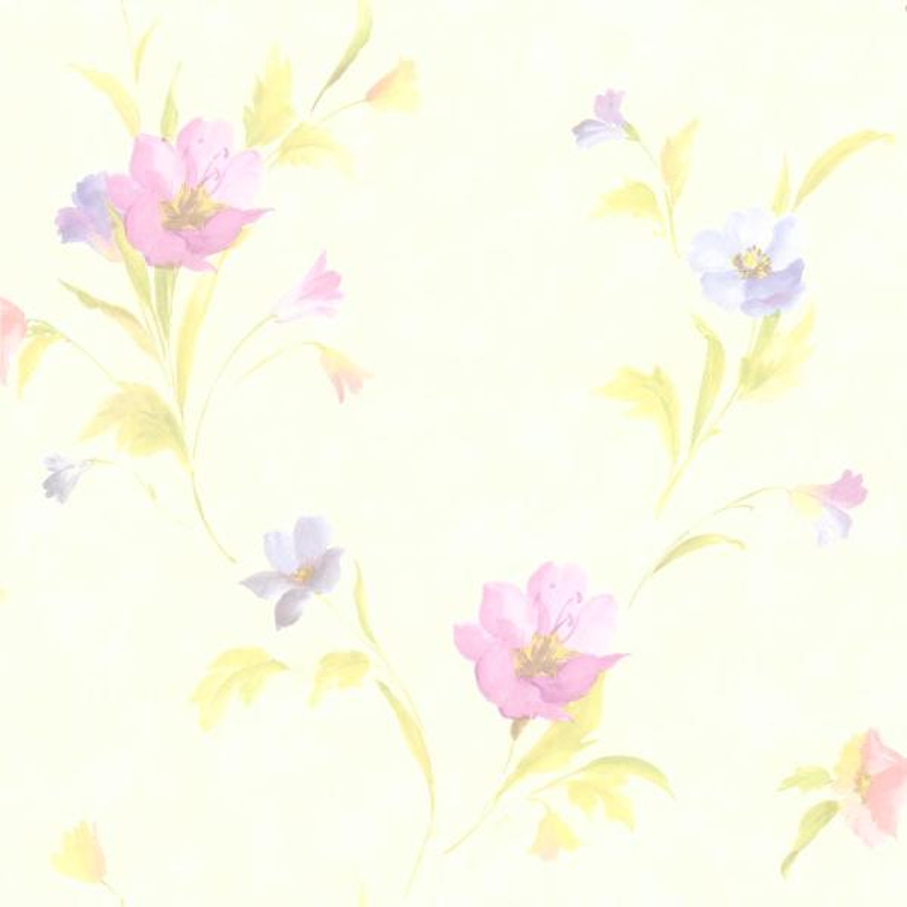 Brewster 56.4 sq. ft. Vivianne Metallic Iris Floral Wallpaper 436-66609