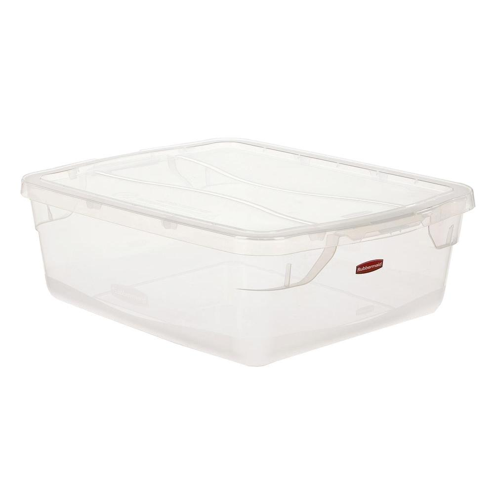 Rubbermaid Clever Store Snap Lid 375 Ga Clear Container RUB3Q24CLE