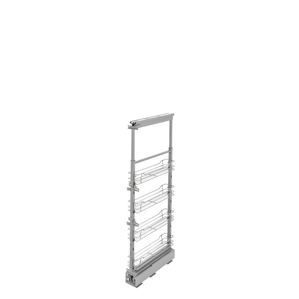 4-1/8 in. Chrome 4-Basket Pull-Out Pantry with Soft-Close Slides