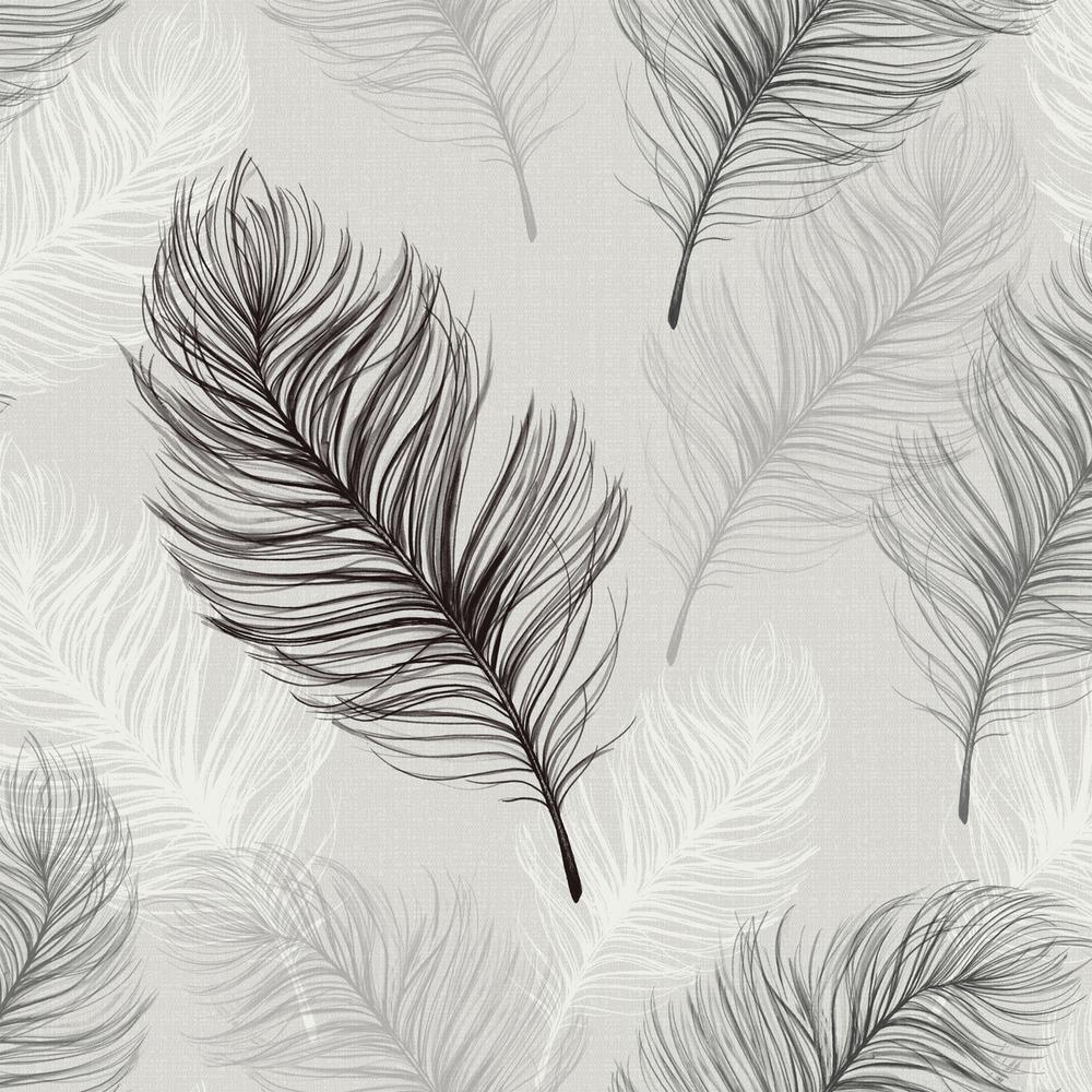 Whisper Black and White Wallpaper