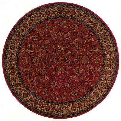 Everest Isfahan Crimson 5 ft. x 5 ft. Round Area Rug