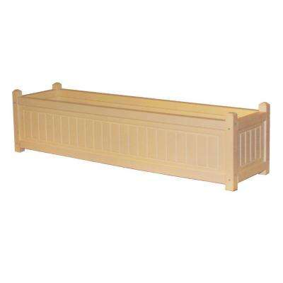 Nantucket 48 in. x 12 in. Cedar Recycled Plastic Commercial Grade Planter Box