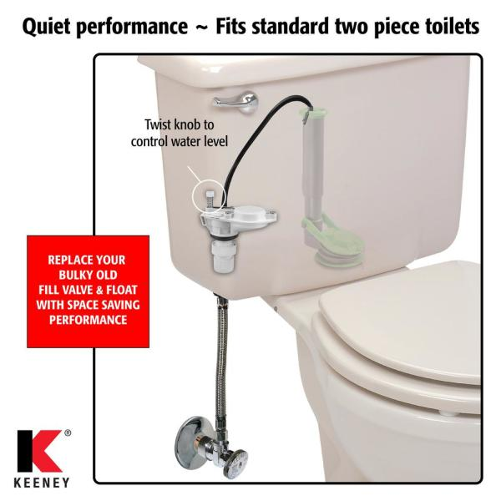 DIY Anti-Siphon Installer Kit Toilet Fill Valve Replacement White
