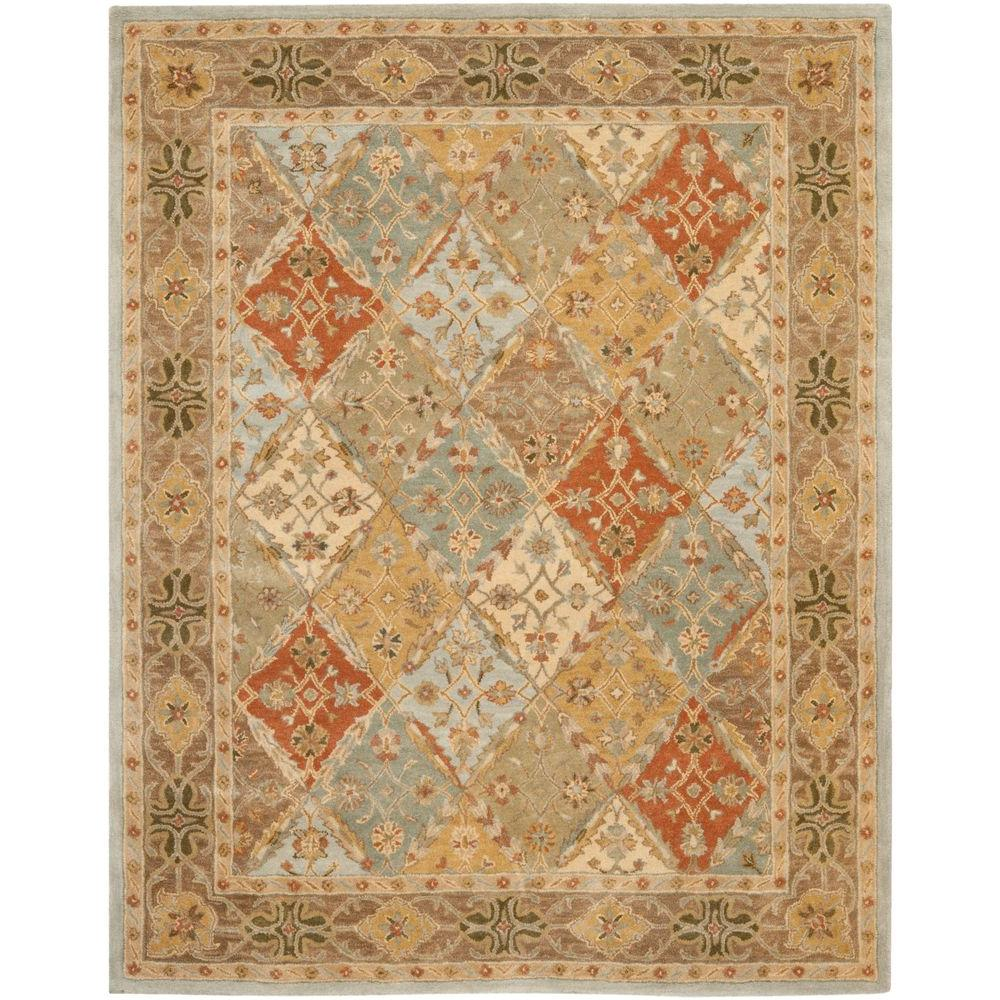 Safavieh Heritage Light Blue Light Brown 9 Ft X 12 Ft Area Rug