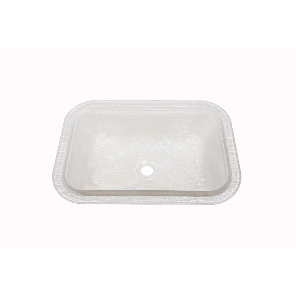 Oasis Rectangle Undermount Bathroom Sink in Pearl