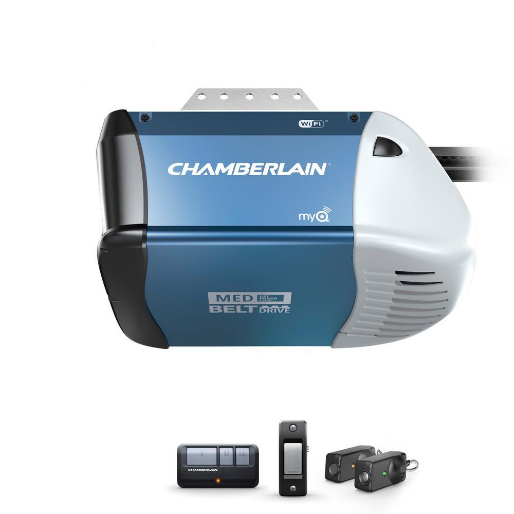 1/2 HP Equivalent AC Belt Drive Smart Garage Door Opener with Medium Lifting Power
