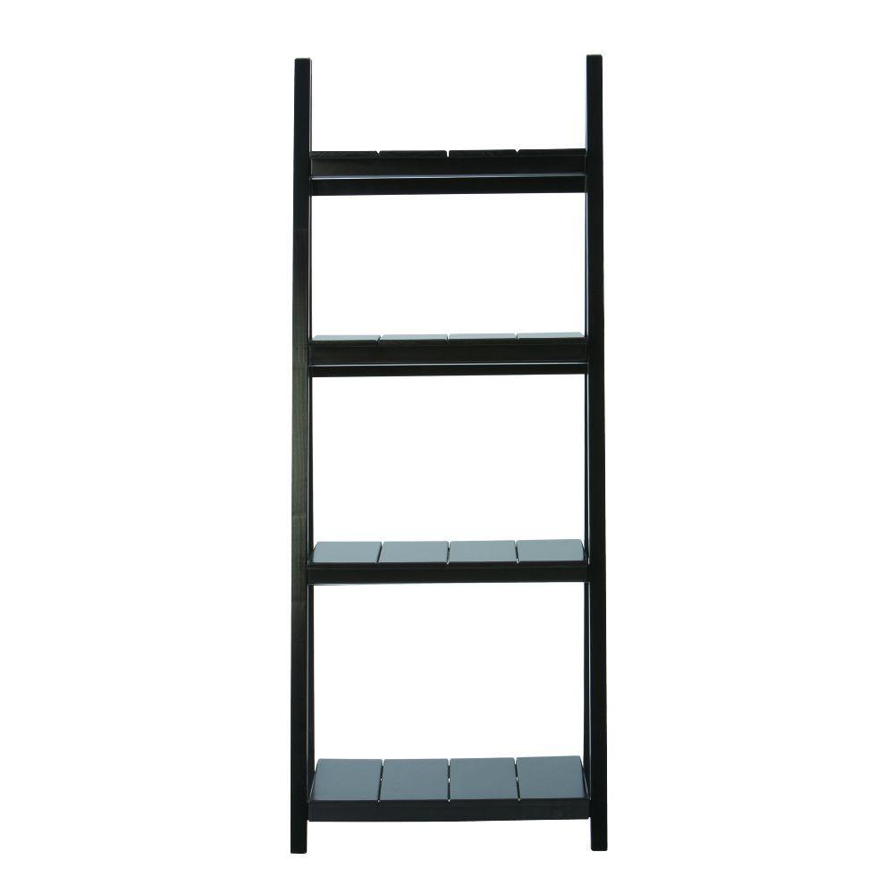 Nolan Black Folding Ladder Bookcase
