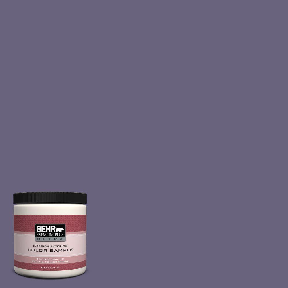 BEHR Premium Plus Ultra 8 oz. #650F-6 Victorian Iris Interior/Exterior Paint Sample