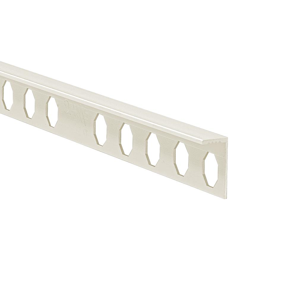 Novosuelo Ivory 3/8 in. x 98-1/2 in. Aluminum Tile Edging Trim