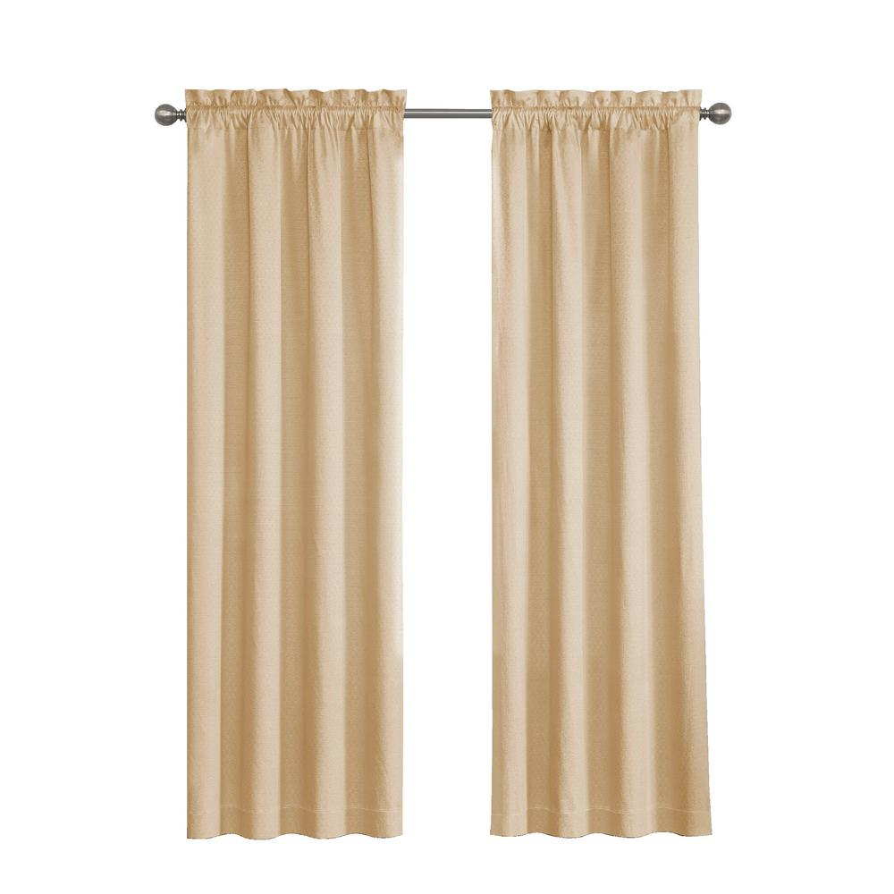 Eclipse Canova Blackout Window Curtain Panel in Gold - 42 in. W x 63 in. L