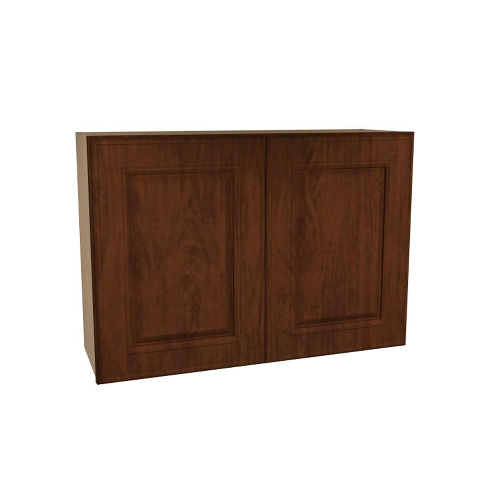 Home Decorators Collection Roxbury Assembled 30x24x12 in. Double Door Wall Kitchen Cabinet in Manganite