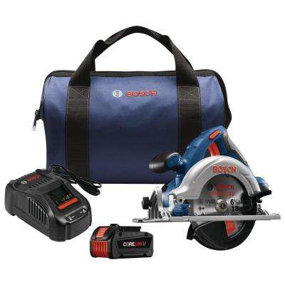 18-Volt 6/12 in. Cordless Circular Saw Kit with CORE18 Battery, Charger and Case