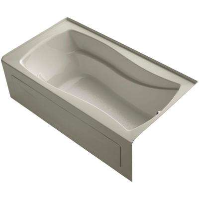Mariposa 5.5 ft. Right Drain Soaking Tub in Sandbar with Basked Heated Surface