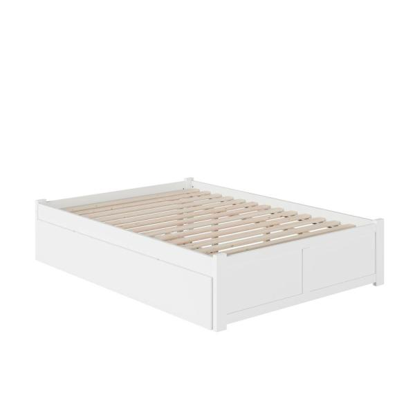 Atlantic Furniture Concord Queen Bed, White Trundle Bed Queen