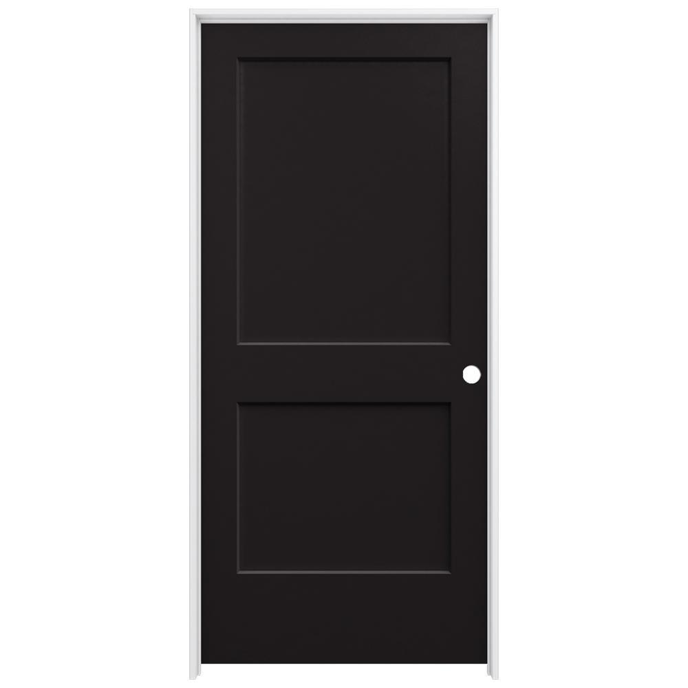 Jeld wen 36 in x 80 in monroe black painted left hand for 14 x 80 interior door