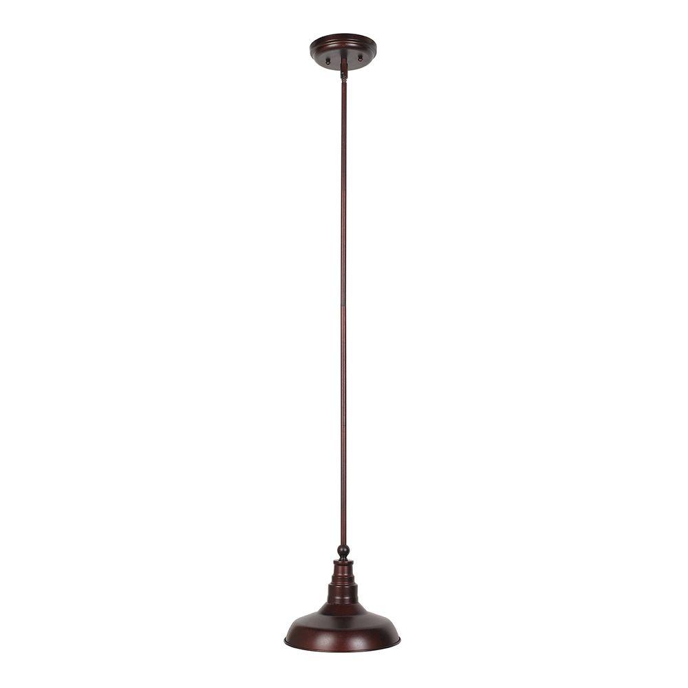 Kimball 1-Light Textured Coffee Bronze Indoor Mini Pendant