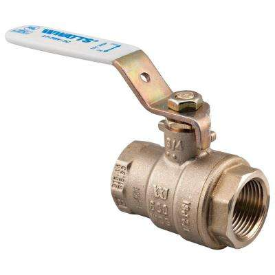 3/4 in. Brass FIP x FIP Full Port Threaded Ball Valve