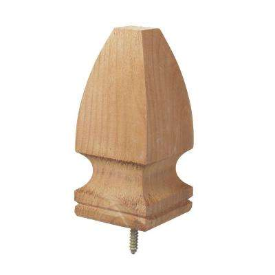 4 in. x 4 in. Gothic Wood Post Cap Finial (6-Pack)