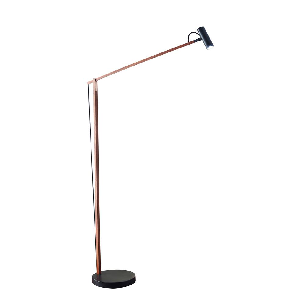ADS360 Crane 60 in. Integrated LED Black Floor Lamp
