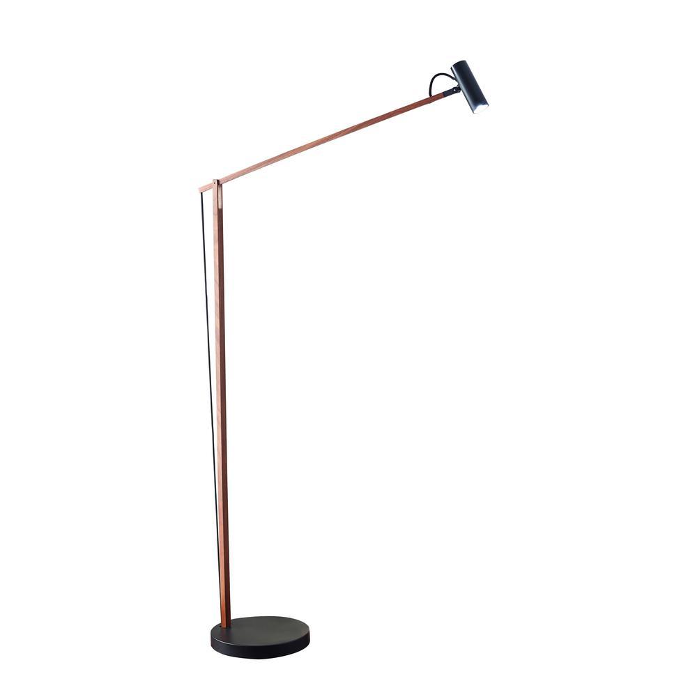 ADS360 Crane 60 in. Integrated LED Black Floor Lamp