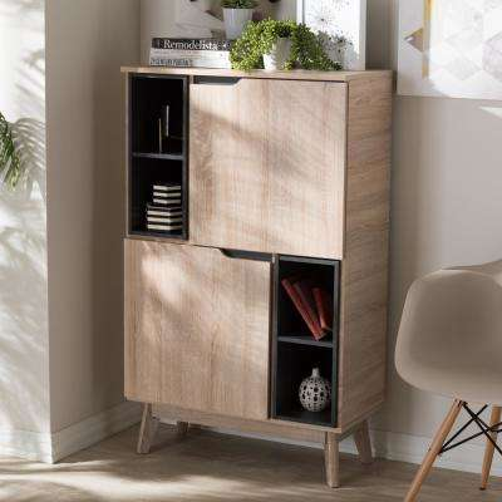 studio office furniture. Fella Light Brown Wood Storage Cabinet Studio Office Furniture