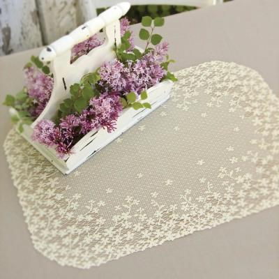Blossom 14 in. x 20 in. Ecru Placemat (Set of 4)