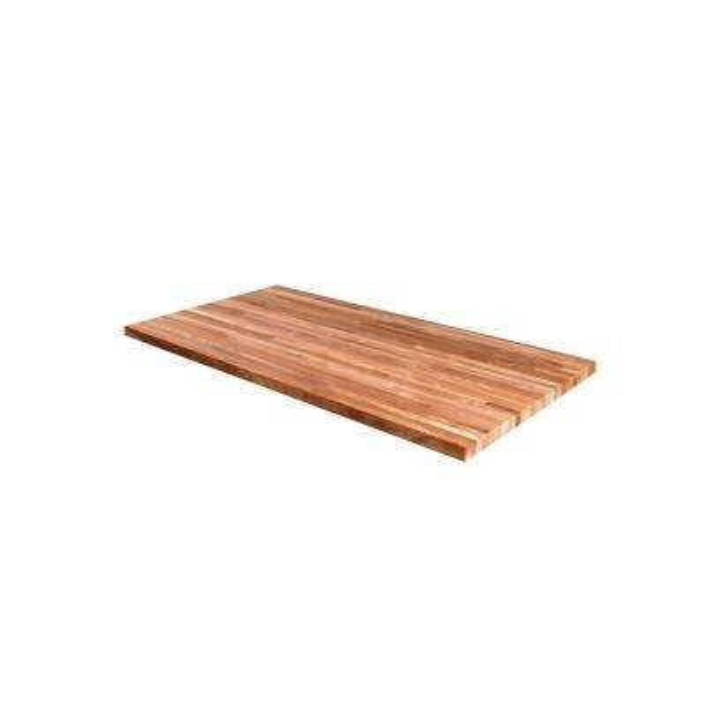 96 in. x 25 in. x 1.5 in. Wood Butcher Block Countertop in Unfinished Walnut