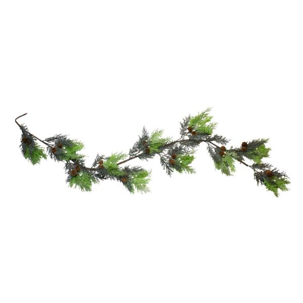 5 ft. Berry Cedar and Pine Cone Artificial Christmas Garland - Unlit