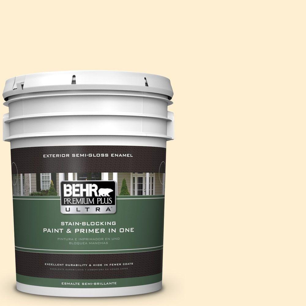 5-gal. #330A-1 Bonnie Cream Semi-Gloss Enamel Exterior Paint