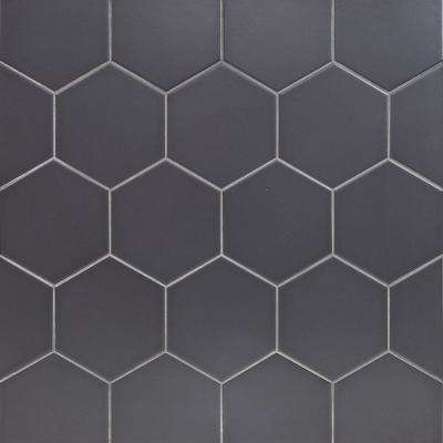 Hexagon Gray Tile Flooring The