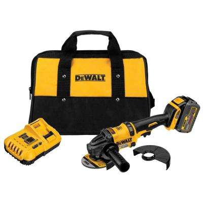 FLEXVOLT 60-Volt MAX Lithium-Ion Cordless Brushless 4-1/2 in. Angle Grinder with Battery 2Ah, Charger and Contractor Bag