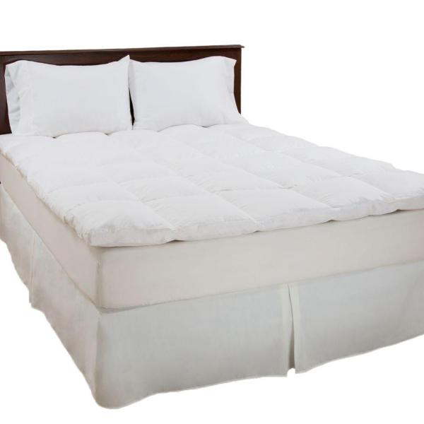 Lavish Home King Size 2 In H 100 Duck Feather Mattress Topper 64