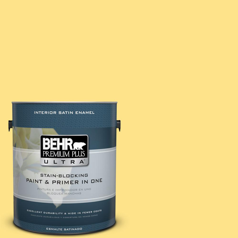 BEHR Premium Plus Ultra 1-gal. #P300-5 Upbeat Satin Enamel Interior Paint