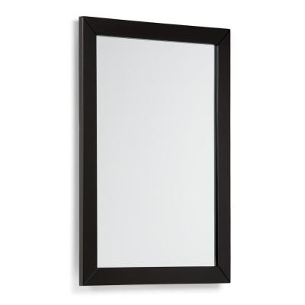 Chelsea 22 in. x 30 in. Bath Vanity Decor Mirror in Black