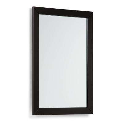 Chelsea 30 in. L x 22 in. W Framed Wall Mirror in Black Lacquer
