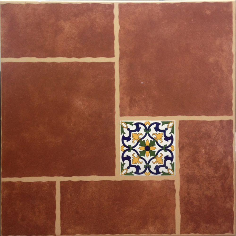 Cali Rojo 18 In X 18 In Ceramic Floor Tile 1540 Sq Ft Case