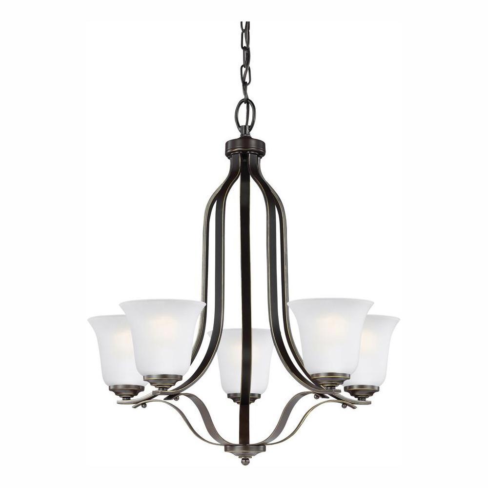 Emmons 5-Light Heirloom Bronze Chandelier with LED Bulbs