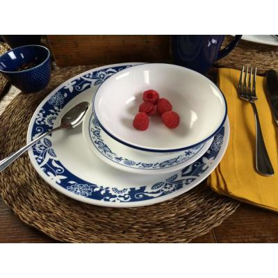 Classic 16-Piece True Blue Dinnerware Set