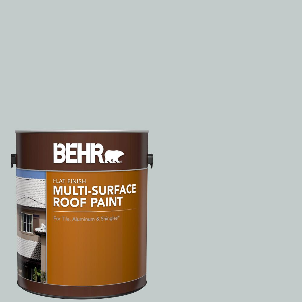 BEHR 1 gal. #RP-12 Royal Slate Flat Multi-Surface Exterior Roof Paint