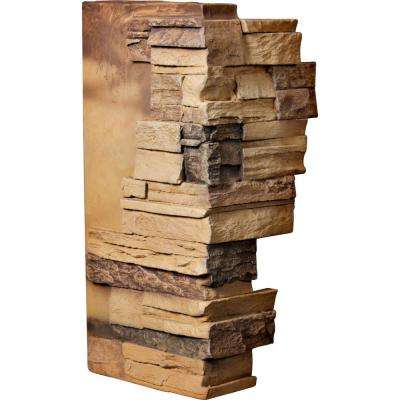 1-1/2 in. x 12 in. x 25 in. Arizona Gold Urethane Dry Stack Stone Outer Corner Wall Panel