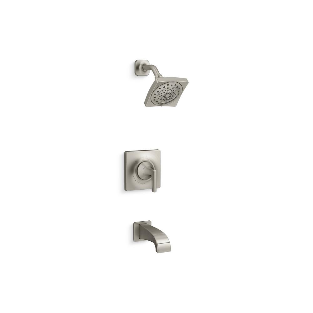 KOHLER Katun 1-Handle 3-Spray Tub and Shower Faucet in Brushed ...