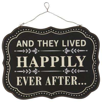 """11.75 in. H x 15.75 in. W """"Happily Ever After"""" Wall Art"""