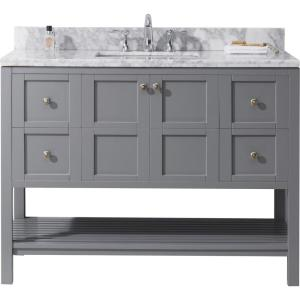 virtu usa winterfell 49 in w bath vanity in gray with 13027