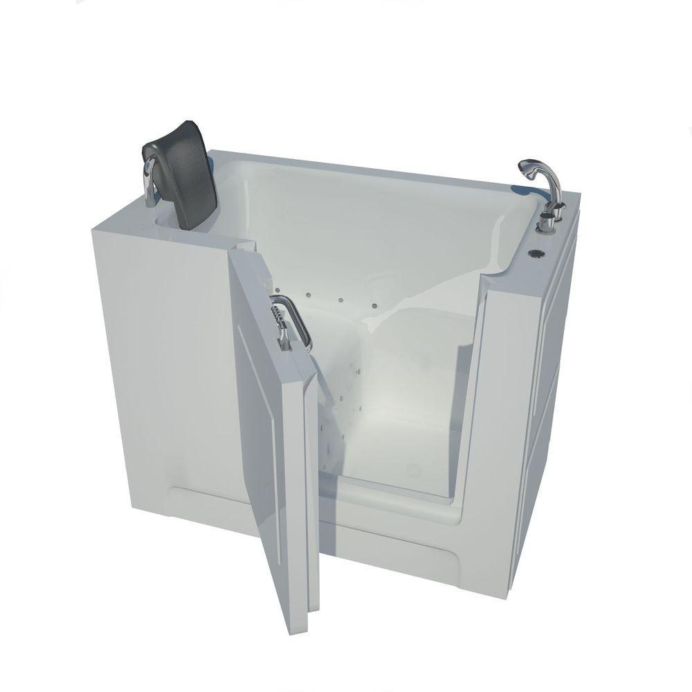 Universal Tubs 4 ft. Right Drain Walk-In Air Bath Tub in White