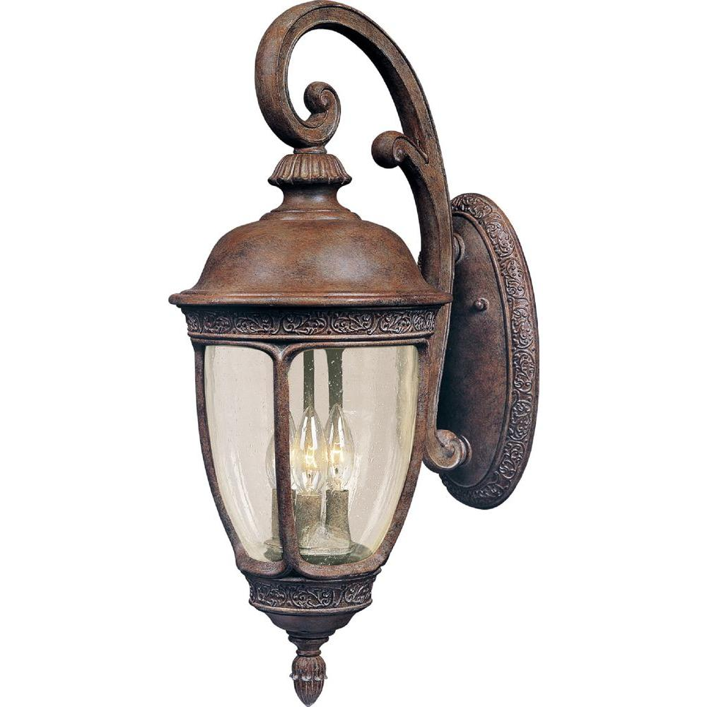 Knob Hill Vivex 3-Light Sienna Outdoor Wall Mount