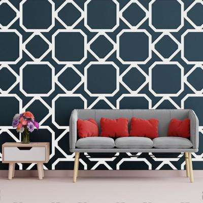 3/8 in. x 43-1/2 in. x 23-3/4 in. Large Lockhart White Architectural Grade PVC Decorative Wall Panels