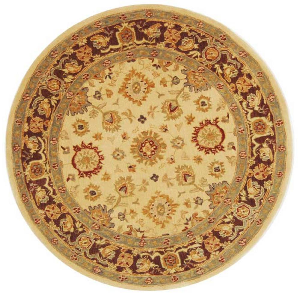 safavieh anatolia ivory brown 4 ft x 4 ft round area rug an546a 4r the home depot. Black Bedroom Furniture Sets. Home Design Ideas