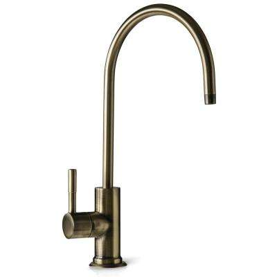 European Designer Drinking Water Faucet for Reverse Osmosis Water Filtration Systems in Antique Brass