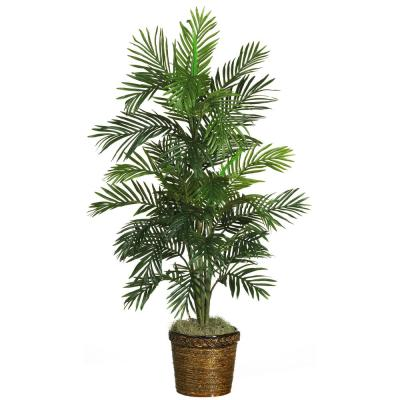 56 In. Areca Palm Silk Tree with Basket