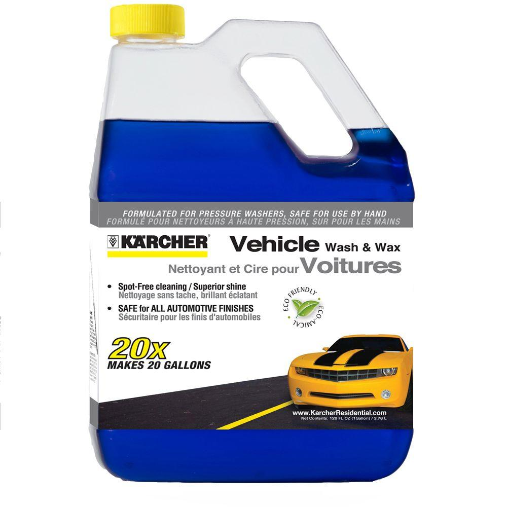 Karcher 1 gal. Vehicle Wash and Wax Cleaner 20x Concentrate